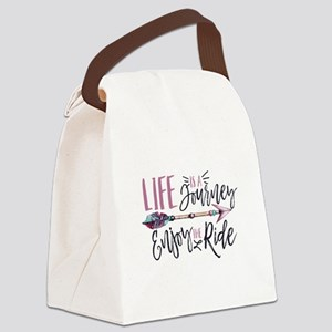 Life Is A journey Enjoy The Ride Canvas Lunch Bag