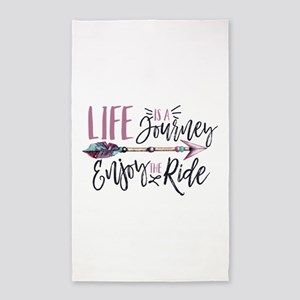 Life Is A journey Enjoy The Ride Area Rug