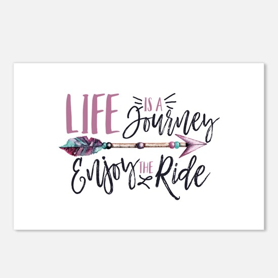 Life Is A journey Enjoy T Postcards (Package of 8)