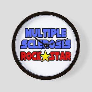 """Multiple Sclerosis RockStar"" Wall Clock"