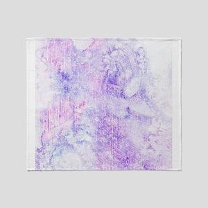 Lavender Purple Marble Watercolor Throw Blanket