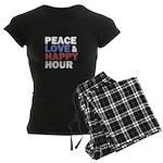 Peace Love Happy Hour Pajamas