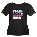 Peace Love Happy Hour Plus Size T-Shirt