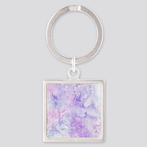 Lavender Purple Marble Watercolor Keychains