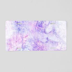 Lavender Purple Marble Wate Aluminum License Plate