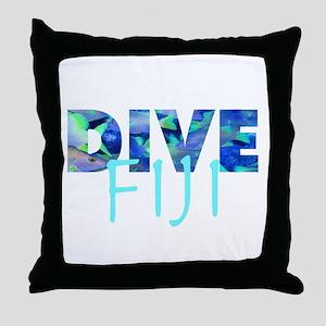 Dive Fiji Throw Pillow