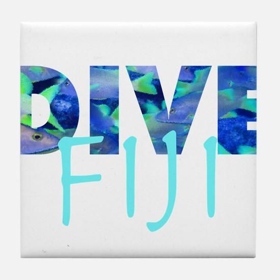 Dive Fiji Tile Coaster