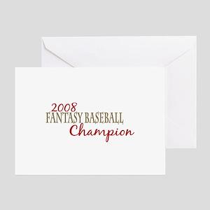 2008 Fantasy Baseball Champ Greeting Card