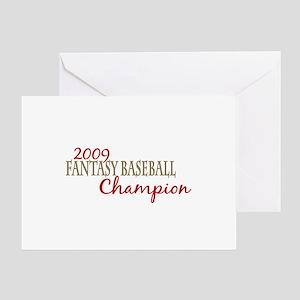 2009 Fantasy Baseball Champ Greeting Card