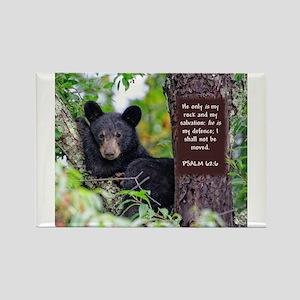 Baby Black Bear - Psalms 62-6 s Magnets