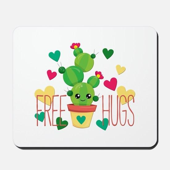 Free Hugs Cute Cactus Plant Mousepad