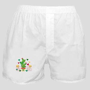 Free Hugs Cute Cactus Plant Boxer Shorts