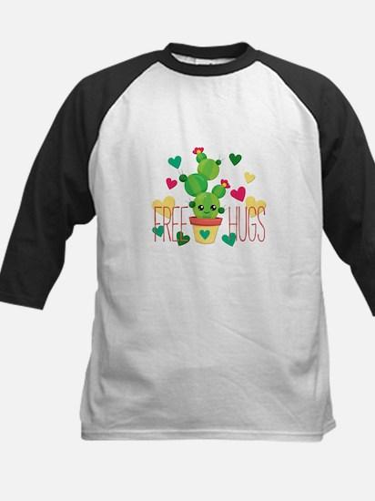 Free Hugs Cute Cactus Plant Baseball Jersey