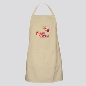 Cheers Bitches Cocktails Wine Light Apron
