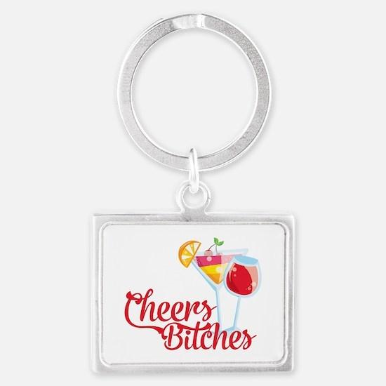 Cheers Bitches Cocktails Wine Keychains