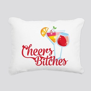 Cheers Bitches Cocktails Rectangular Canvas Pillow