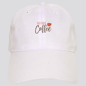 But First Coffee Hand Lettered Cap