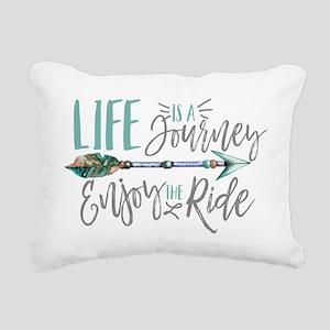 Bohemian Typography Life Rectangular Canvas Pillow
