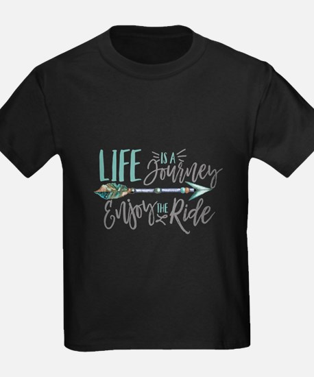 Bohemian Typography Life Is A journey T-Shirt