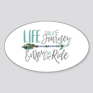 Bohemian Typography Life Is A journey Sticker