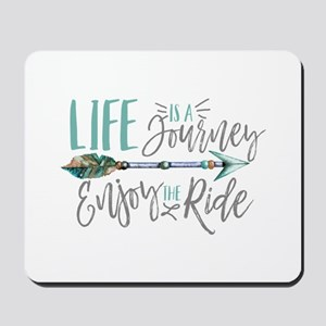 Bohemian Typography Life Is A journey Mousepad