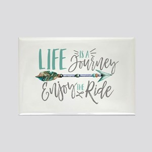 Bohemian Typography Life Is A journey Magnets
