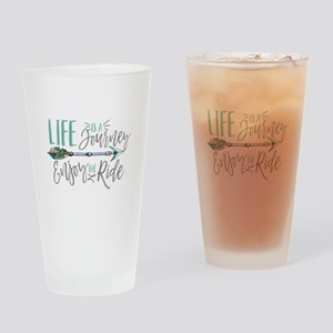 Bohemian Typography Life Is A journ Drinking Glass