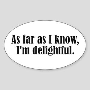 I'm Delightful Sticker (Oval)