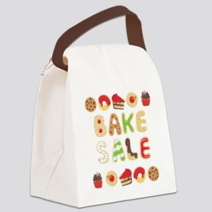 Bake Sale Cookies Cupcakes Canvas Lunch Bag