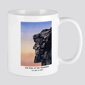 Old Man of the Mountain at Dusk Large Coffee Mugs