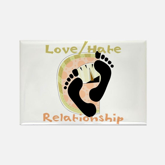 Love Hate Relationship Rectangle Magnet