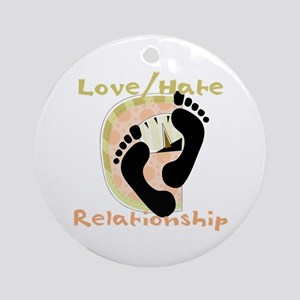 Love Hate Relationship Ornament (Round)