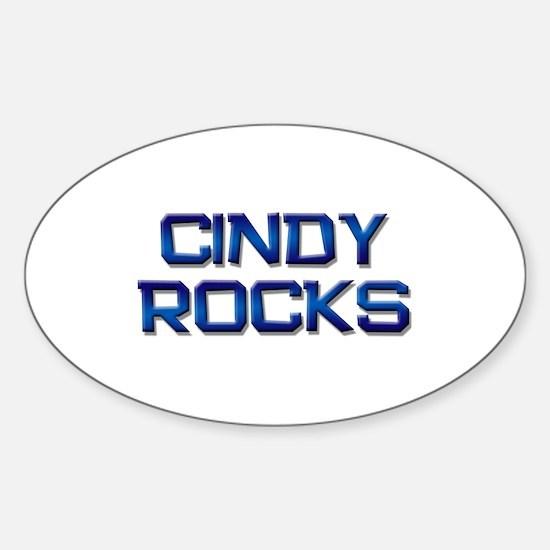 cindy rocks Oval Decal