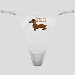Everyone Loves A Dachshund Classic Thong