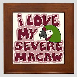 Kawaii Severe Macaw Framed Tile