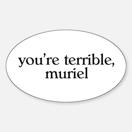 Muriel Sticker (Oval)