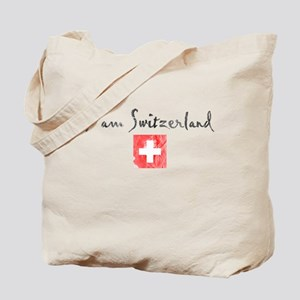 I am Switzerland Distressed Tote Bag