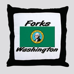 Forks Washington Throw Pillow