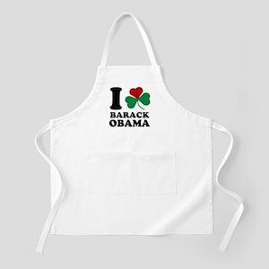 I Shamrock Love Barack Obama BBQ Apron