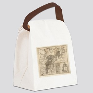 British and French Settlements of Canvas Lunch Bag