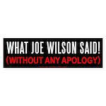 What Joe Wilson Said Bumper Sticker