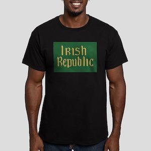 Irish Republic Flag Men's Fitted T-Shirt (dark)