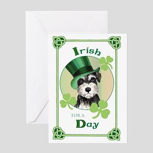 St. Patrick Miniature Schnauzer Greeting Card