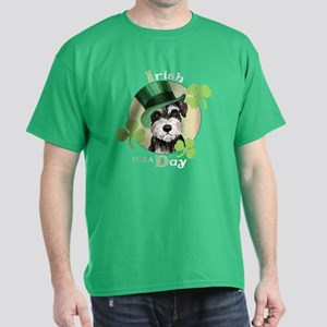 St. Patrick Miniature Schnauzer Dark T-Shirt