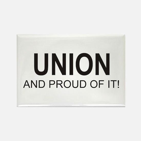 Proud Union Rectangle Magnet