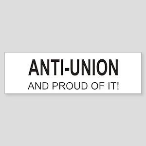 Anti-Union Bumper Sticker