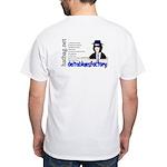 'Hatbag Blues' White T-Shirt