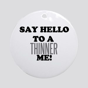 Thinner Me Dieter Ornament (Round)
