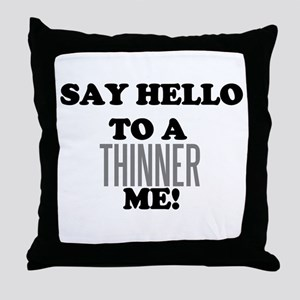 Thinner Me Dieter Throw Pillow