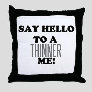 Thinner Me Dieter Throw Pillow